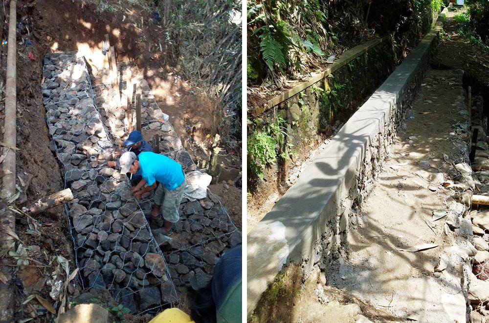 Pembangunan TPT Bronjong di RW 02