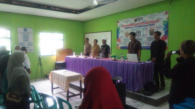 Musyawarah Pelantikan Pengurus Kelembagaan Desa