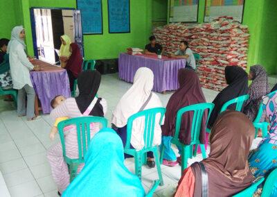 Penyaluran Bantuan Pangan Non Tunai (BPNT) di Desa Parungkuda